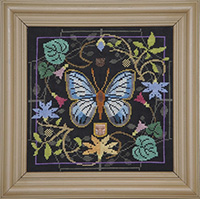 Butterfly in Bloom - Green Banded Blue