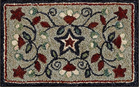 Star Spangled Punchneedle