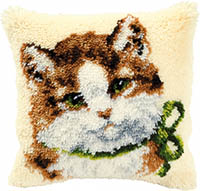 Cat Latch Hook Cushion Kit