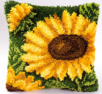 Sunflowers Latch Hook Cushion Kit