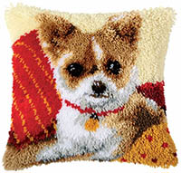 Chihuahua Latch Hook Cushion Kit