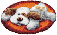 Lying Dog Latch Hook Rug Kit