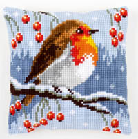 Red Robin in Winter Cushion Kit