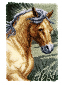 Horse Latch Hook Rug Kit