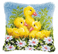 Ducks Latch Hook Cushion Kit