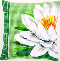 White Lotus Flower Cushion Kit