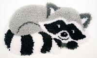 Raccoon Shaped Latch Hook Rug Kit