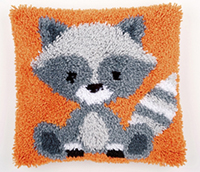 Raccoon Latch Hook Cushion Kit