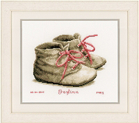 Baby Shoes Birth Announcement Kit