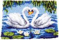 2 Swans Latch Hook Rug Kit