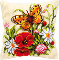 Flowers with Butterfly Cushion Kit
