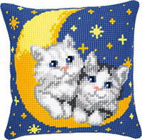 Cats on the Moon Cushion Kit