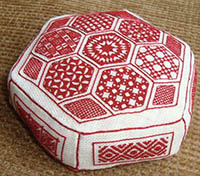 Red and White Pincushion