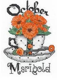 Teacup Flowers - October