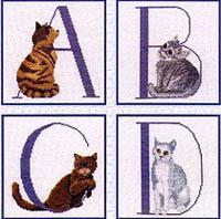 Alphabet Cat I (A - D)