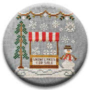 Snowflake Stand Needle Nanny by Country Cottage Needlework