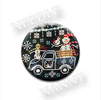 Winter Wonderland Farm - Frosty Ride Needle Nanny by Sue Hillis Designs