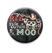 Red, White & Moon Needle Nanny by Hands On Design
