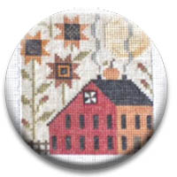 Autumn Saltbox 2 Needle Nanny by Plum Street Samplers