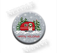 Happy Holidays Needle Nanny by Sue Hillis Designs