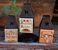 Mini Lantern Greetings 6 - Happy Harvest, Awesome Autumn, Boo To You