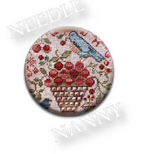 Blue Bird and Berries Needle Nanny by Blackbird Designs