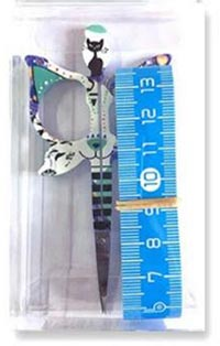 Cat Design 3.5 in. Blue Scissors Gift Set - LIMITED EDITION