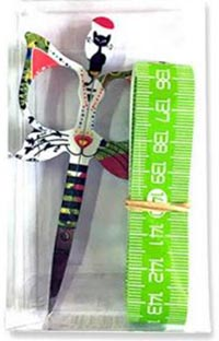 Cat Design 3.5 in. Green Scissors Gift Set - LIMITED EDITION