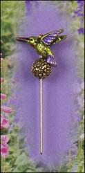 Hummingbird Charm Garden Pin