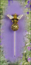 Sparkle Bee Charm Garden Pin