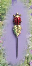 Ladybug w/leaf Charm Garden Pin