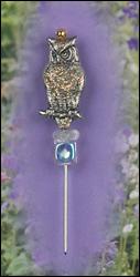 Snow Owl Charm Garden Pin