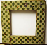 Checkered with Alphabet Frame