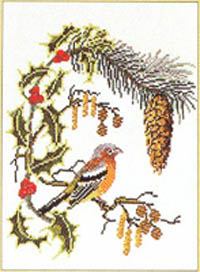 Bird On A Holly Branch Kit
