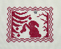 Christmas Silhouette - Bunny Hangs Her Christmas Stocking