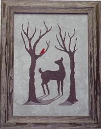 Deer in The Winter Mist