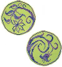 Circle Ornaments - Elegant Spring
