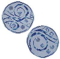 Circle Ornaments - Elegant Winter