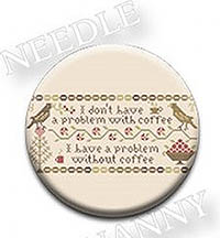 Coffee Drinker's Confession Needle Nanny by Heartstring Samplery