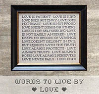 Words to Live By - Love