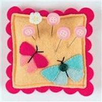 Seasonal Slider Pincushion - Flutterby
