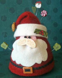 Jolly Old Elf Pincushion