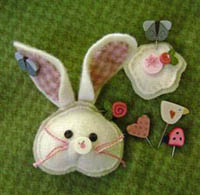 Cottontail Pin-it Ornament