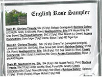 English Rose Sampler Embellishment Pack
