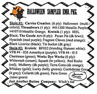 Halloween Sampler Embellishment Pack
