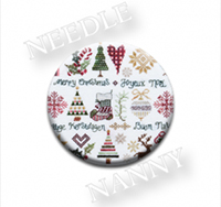 Christmas Sampler Needle Nanny by Jeanette Douglas Designs