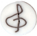 lc1040 Treble Clef - Just Another Button Co