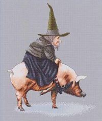 Witch on Pig