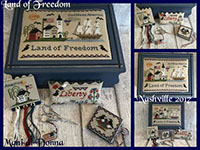 Land of Freedom Sewing Box