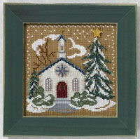 2006 Christmas Village Button & Bead - Country Church